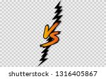 vs. versus letter logo. battle... | Shutterstock .eps vector #1316405867