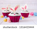 Easter Bunny Cupcakes  Close Up ...
