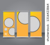 vector orange roll up banner...   Shutterstock .eps vector #1316423864