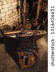 blacksmith workplace  anvil ... | Shutterstock . vector #1316426651