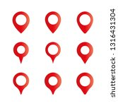 location pin  map pin vector... | Shutterstock .eps vector #1316431304