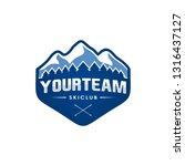 ski club badge logo | Shutterstock .eps vector #1316437127
