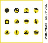 summer icons set with... | Shutterstock .eps vector #1316449937