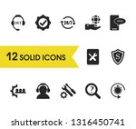 support icons set with tool...