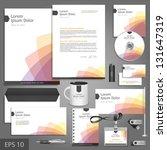 white corporate identity... | Shutterstock .eps vector #131647319