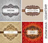 set of vintage frames. great... | Shutterstock .eps vector #131647349