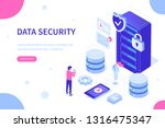 cyber security and data storage ... | Shutterstock .eps vector #1316475347