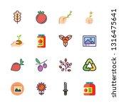 leaf vector icon set | Shutterstock .eps vector #1316475641