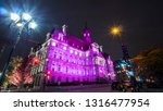 city hall of montreal at night  ... | Shutterstock . vector #1316477954