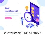 time management concept. can... | Shutterstock .eps vector #1316478077