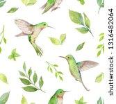 watercolor seamless pattern... | Shutterstock . vector #1316482064
