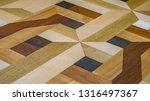 parquet floor of strip parquet... | Shutterstock . vector #1316497367