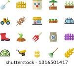 color flat icon set ear flat... | Shutterstock .eps vector #1316501417