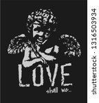 love slogan with stone baby... | Shutterstock .eps vector #1316503934
