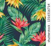 floral vector seamless pattern...   Shutterstock .eps vector #1316516714