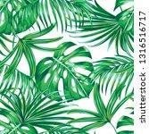 tropical leaves  palms ... | Shutterstock .eps vector #1316516717
