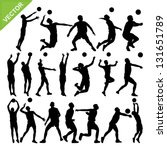 men volleyball player... | Shutterstock .eps vector #131651789