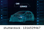 car auto service infographics... | Shutterstock .eps vector #1316529467