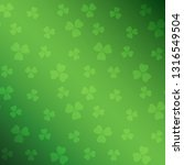 green saint patrick background... | Shutterstock . vector #1316549504