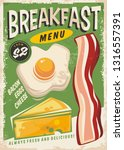 breakfast menu promo ad design... | Shutterstock .eps vector #1316557391