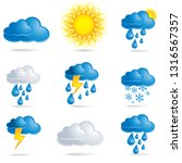 weather icons set  sun  clouds  ... | Shutterstock .eps vector #1316567357