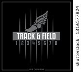 track and field  track  winged... | Shutterstock .eps vector #1316577824