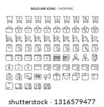 shopping  bold line icons. the... | Shutterstock .eps vector #1316579477