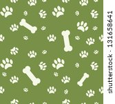 background with dog paw print... | Shutterstock .eps vector #131658641