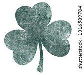 grunge clover shamrock leaf... | Shutterstock .eps vector #1316589704