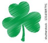 grunge clover shamrock leaf... | Shutterstock .eps vector #1316589791