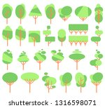 vector illustration  flat green ... | Shutterstock .eps vector #1316598071