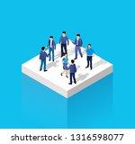 isometric people urban business ... | Shutterstock .eps vector #1316598077