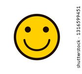 smile icon. happy smiley face.... | Shutterstock .eps vector #1316599451