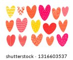 collection of doodle pink... | Shutterstock .eps vector #1316603537