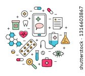 healthcare concept with medical ... | Shutterstock .eps vector #1316603867