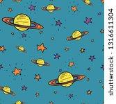 cute vector seamless pattern.... | Shutterstock .eps vector #1316611304