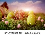 Colorful Easter Eggs. Holiday...