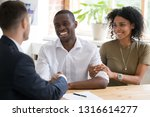happy black couple first time... | Shutterstock . vector #1316614277