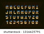 retro chrome font in the style...   Shutterstock .eps vector #1316625791