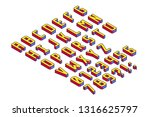 bright and colorful cubic and...   Shutterstock .eps vector #1316625797