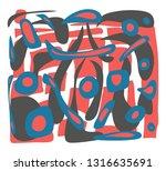 creative artistic background.... | Shutterstock .eps vector #1316635691