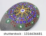 closeup of a uniquely painted... | Shutterstock . vector #1316636681
