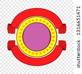 round badge with red ribbons... | Shutterstock .eps vector #1316651471