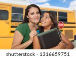 hispanic mother and daughter... | Shutterstock . vector #1316659751