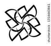 tribal tattoos. art tribal... | Shutterstock .eps vector #1316663861