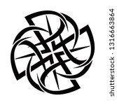 tribal tattoos. art tribal... | Shutterstock .eps vector #1316663864