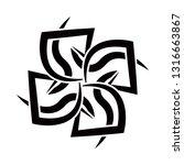 tribal tattoos. art tribal... | Shutterstock .eps vector #1316663867