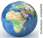 globalization concept. earth...   Shutterstock . vector #131666405