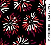 seamless repeat pattern with... | Shutterstock .eps vector #1316665961