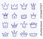 hand drawn set of different... | Shutterstock .eps vector #1316667527